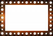 Backstage mirror frame with bulbs and white space for picture or texts. poster