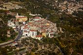 Small mediterranean town in Italy, Borghetto San Nicolo poster