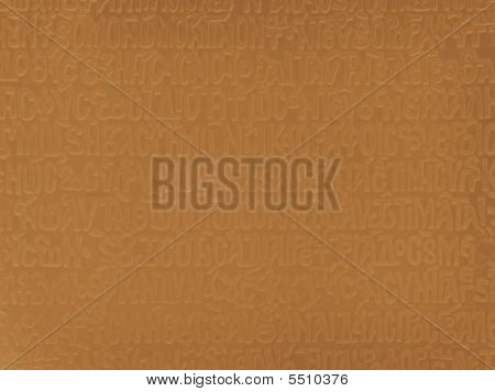 Abstract Gold Background With Ancient Letterings
