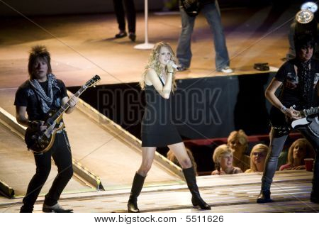 Taylor Swift On Stage At Cheyenne Frontier Days Rodeo