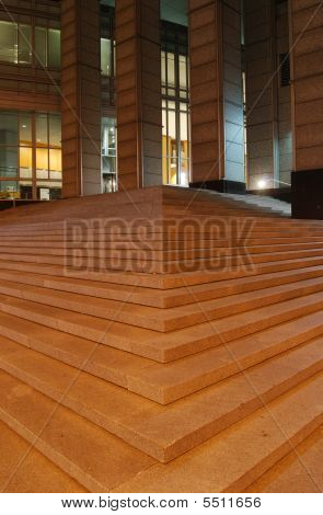 Concrete Steps At Night