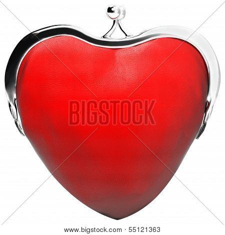 heart purse, love
