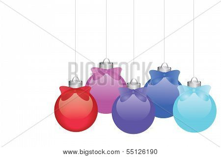 Colorful Ornaments for Happy Holidays