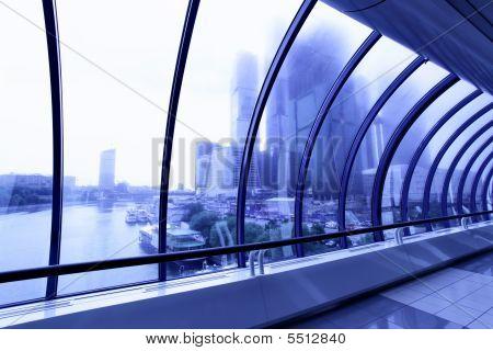 Skyscrapers Beyond Window