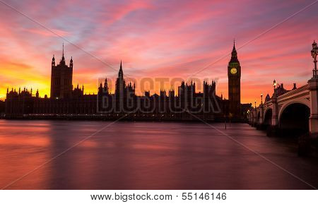 Westminster red sky sunset
