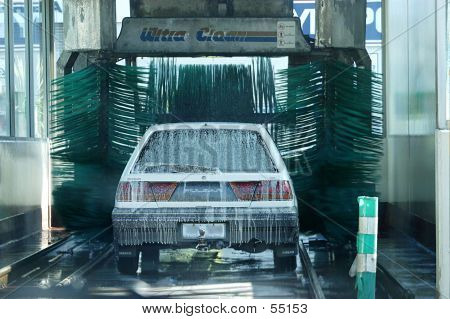 Car Going Into A Car Wash...