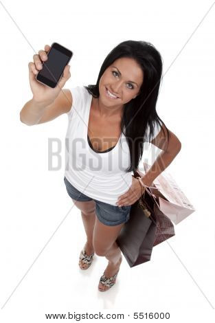 Pretty Woman Holding Smart Phone