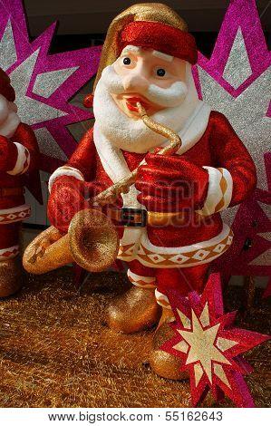 Santa Claus  Playing Intrument