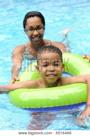 Mother & Child Swimming