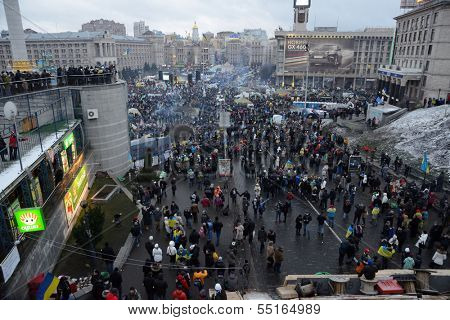 KIEV, UKRAINE - DECEMBER 08: Mass meeting of millions for the government's resignation, December 08, 2013,  Independence Square (Maydan) in Kiev