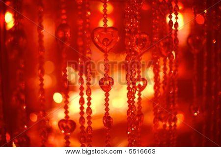 Glowing Christmas Light Background