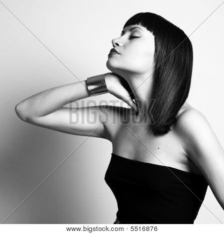 Young Stylish Woman In Bracelet