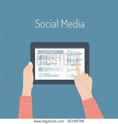 Social Media Flat Illustration Concept