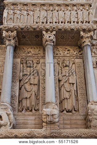 Apostles Bartholomew And James The Great Statues (1190). Arles, France