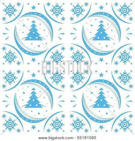 Winter Pattern Blue