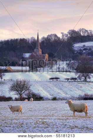 Rural Cotswolds in Winter
