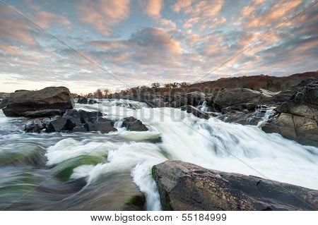 Potomac River Great Falls Sunrise Scenic
