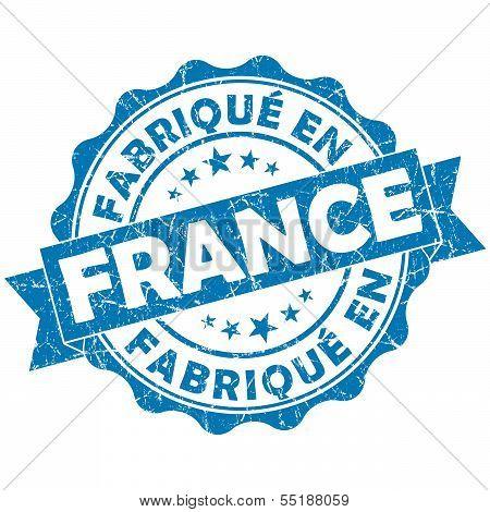 Made In France Blue Grunge Seal
