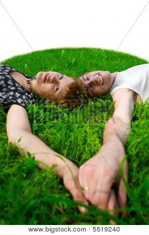 Teens On Grass (fisheye)
