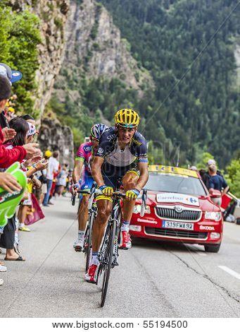 Daniele Bennati Climbing Alpe D'huez