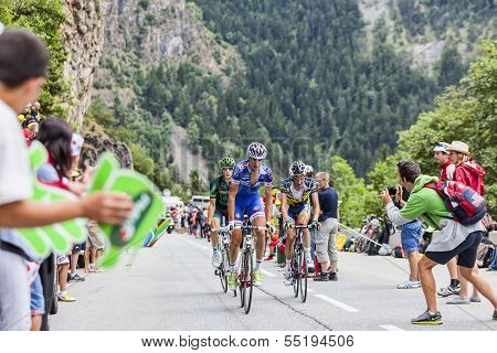 Cyclists Climbing Alpe D'huez