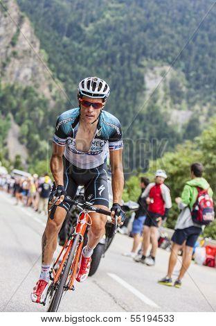 Sylvain Chavanel Climbing Alpe D'huez