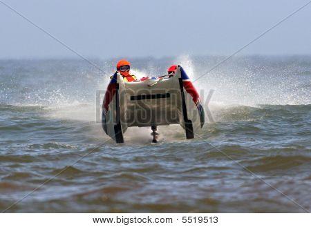 Powerboat Racing On Ocean