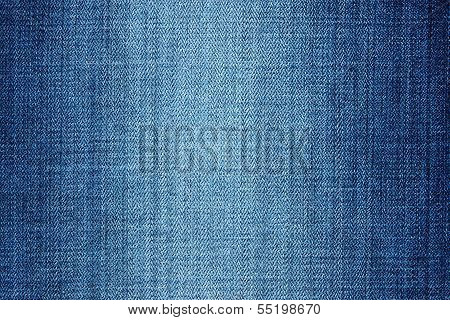External texture of shabby denim for wallpaper and an abstract background a fragment of jeans poster