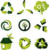 A set of nine environmental design elements poster
