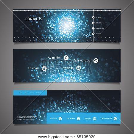 Web Design Elements - Header Design - Universe Theme