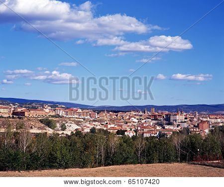 View over town, Teruel, Spain.