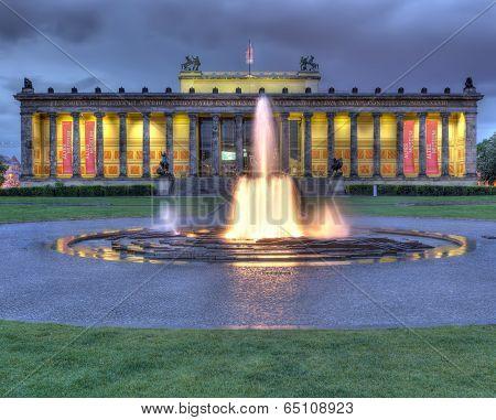 Altes Museum At Night