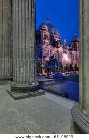 Berlin Cathedral Through Altes Museum