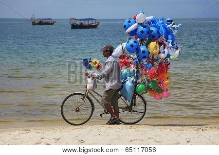 Boy Selling Balloons