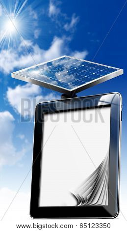Tablet Computer With Solar Panel