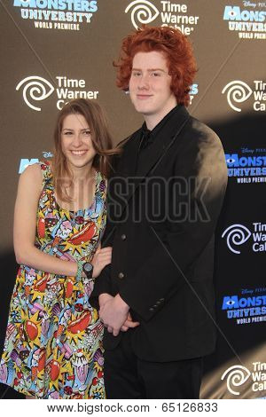 LOS ANGELES - JUN 17:  Eden Sher, Charlie Morris at the