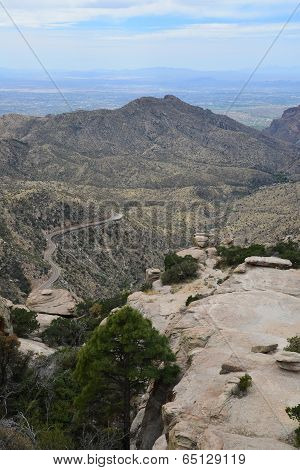 The highway to Mt Lemmon one of the