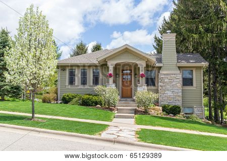 Craftsman style suburban home