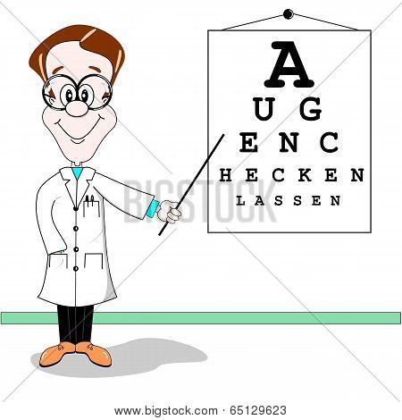 German optician cartoon