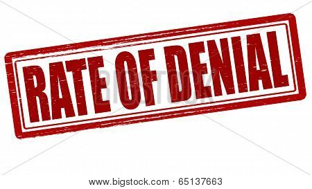Stamp with text rate of denial inside vector illustration