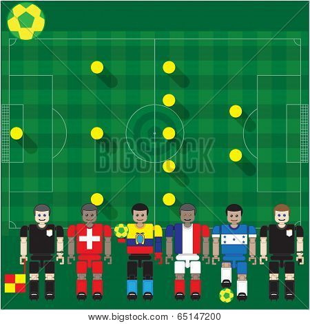 Soccer stage Match of WorlGroud p  E