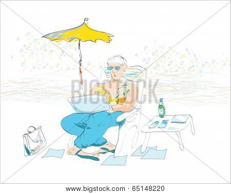 Businessman On Resort
