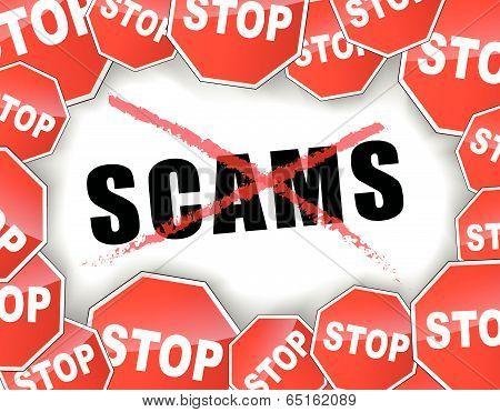 Stop Scams Concept