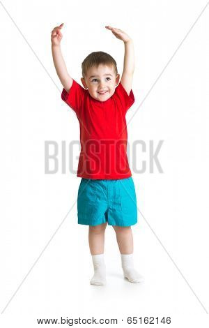 little Kid or child growing Isolated on white