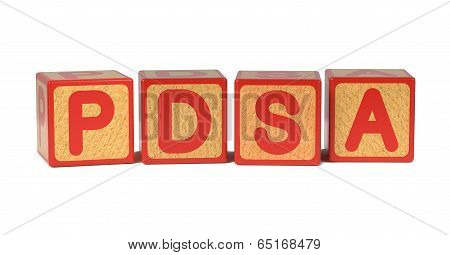 PDSA - Colored Childrens Alphabet Blocks.