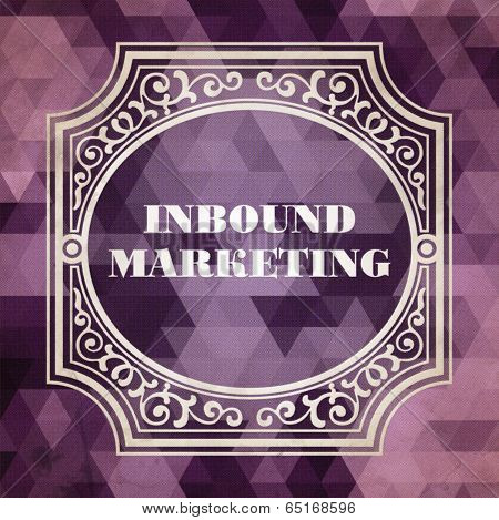 Inbound Marketing Concept. Purple Vintage design.