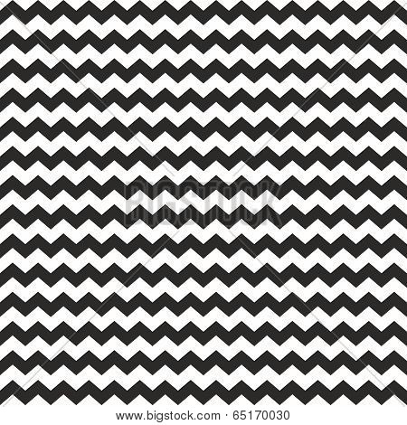Zig zag vector chevron wrapping seamless black and white pattern or background with stripes