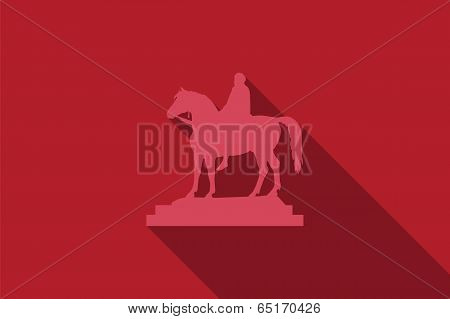 World landmark, Equestrian statue in London, UK, vector illustration poster