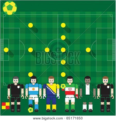Soccer stage Match of World Group  F