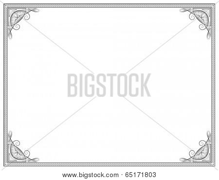 Old style black decorative frame